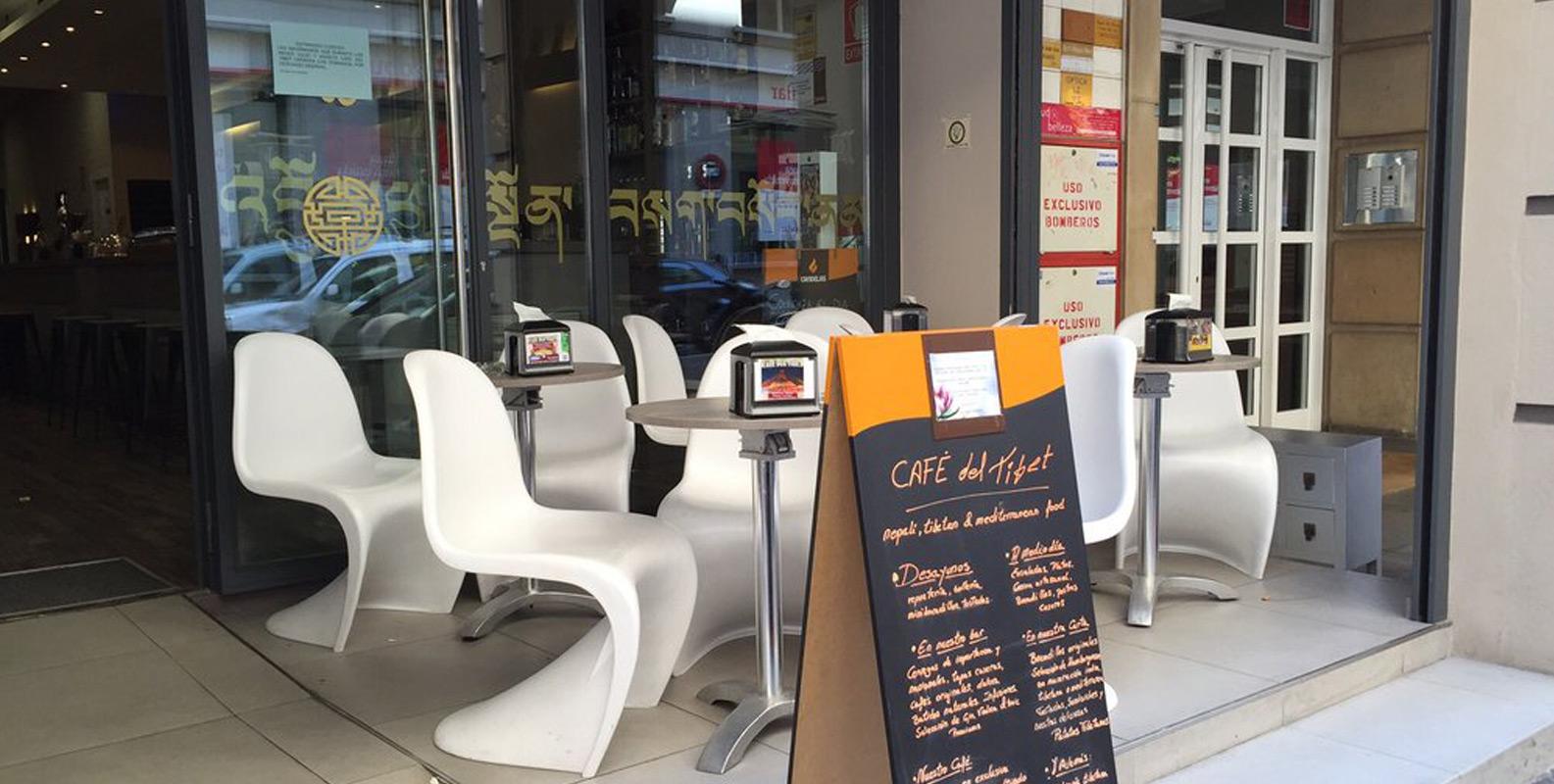 Café del Tíbet. Zurita 4, Zaragoza. Restaurante y Cafetería, Terraza.