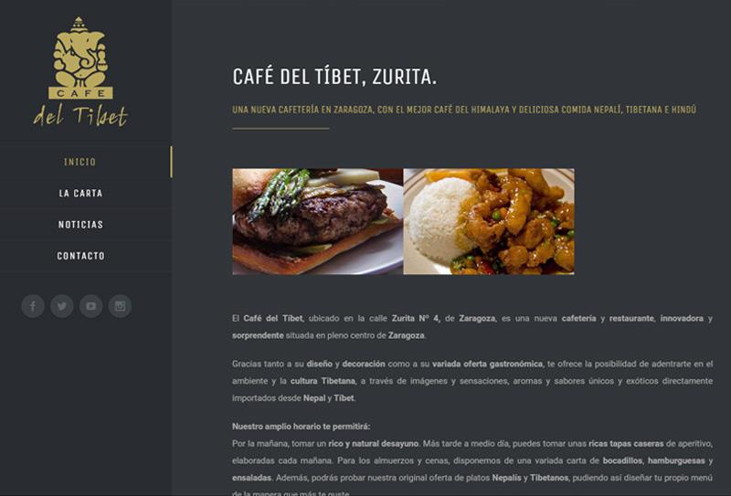 Nueva página web de El Café del Tíbet. Zurita 4, Zaragoza. Restaurante y Cafetería
